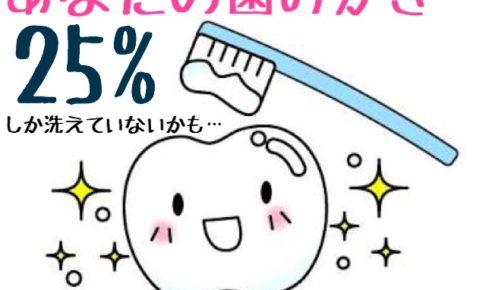 磨かれている歯のイラスト